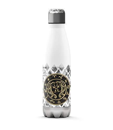 Sunnywall Edelstahl-Thermosflasche Sternzeichen kalt & heiß Thermoskanne Isolierflasche Trinkflasche 500ml Wasserflasche 0.50L Campingflasche Isolier-Trinkflasche Auslaufsicher (Zwillinge)