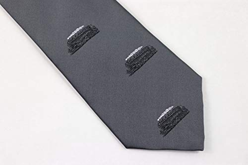 Zunftbedarfde Krawatte Dampflok (Grau) Eisenbahn - Krawatten Krawatten