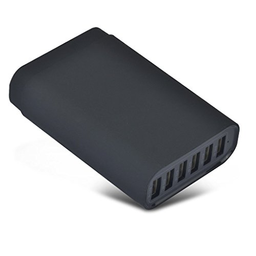 Multiport Usb (SELECTEC 40W 6 Port USB Ladegerät Handy Ladegerät Multi-Port USB Ladegerät für iPhone 7 6 / 6 Plus, iPad Air 2 / mini 3, Galaxy S6 / S6 Edge 5V MAX 8A)