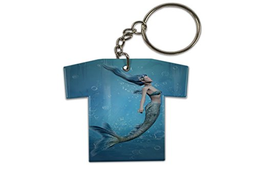 Fantasie-trikot (Schlüsselanhänger Fantasy Gothik Meerjungfrau Trikot Bedruckt)