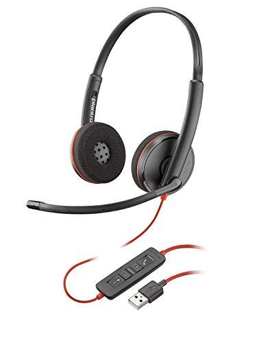 Casque Mono Filaire Plantronics Blackwire 3200 Stéréo USB Noir