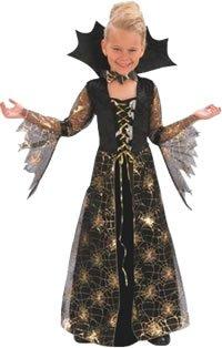 Halloween Spiderella Mädchen Kostüm Ages (Gold Blue Kostüm Halloween Kleid)