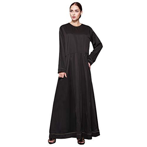 Kopf-wand-hoodie (ZEELIY Frauen Muslimische Kleider Feste Schals Arabien Islamische Gebet Kleid Muslimische Kleidung Hijab Kleider Frauen Muslim Bat's-Flügelhülsen Kleid Hijab)