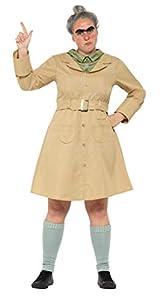 Smiffys 41537M Roald Dahl disfraz de Miss Trunchbull, color beige, tamaño mediano, UK 12-14