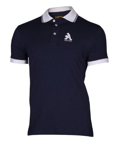 A-Style Polo Shirt Logo, Rosa, L Blau