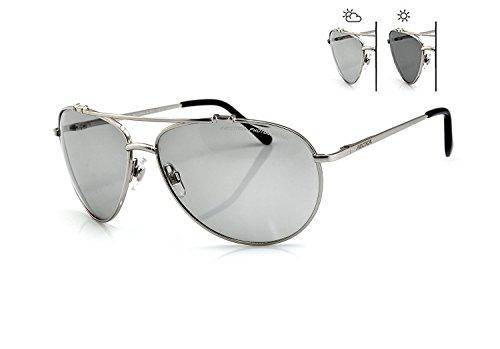 New Classic Sonnenbrille Damen & Herren s-157F * Sun Trooper * PHOTOCHROME Linsen Aviator Stil perfekt für Golf fahren mit Fall