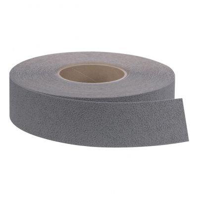 StickersLab - Strisce nastro pellicole adesive antiscivolo colore grigio silver 25mm x 6 MT o 18MT (Lunghezza - 25mm x 18,3MT)