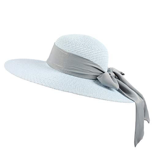 Floppy Faltbare Frauen Straw Beach Sun Sommer Breiter Krempe-Hut Sonnenhut -