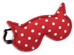 Preisvergleich Produktbild Schlafmaske, Die Katze Luna, Farbe: Polka dot rot / Mitternacht: Zum Wärmen und Kühlen