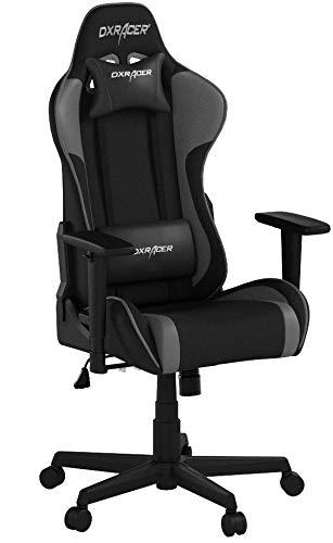 DXRacer Formula F11 Gaming Chair, Black/Grey, Piel sintética, Negro/Gris, 85.5 x 69.5 x 35.0 cm