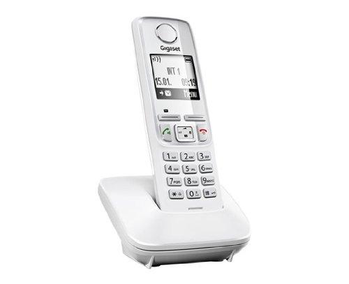 """Gigaset A420 - Teléfono fijo con pantalla de 1.8"""", color blanco"""