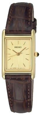 Seiko SXGN54P1 - Reloj analógico de mujer de cuarzo con correa de piel marrón
