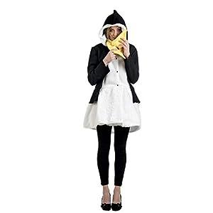 Limit Sport - Disfraz abrigo y bufanda de pingüino para adultos, talla S (MA685)