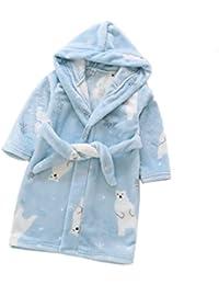 Albornoz Niño Bata para Niños y niñas Albornoces Casa Suave Forro Polar Toalla con Capucha Bebé
