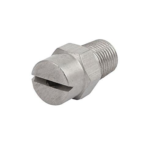sourcingmap® 1/8BSP orifice 2,4 mm diamètre pulvérisation acier inoxydable 95 degrés embout plat