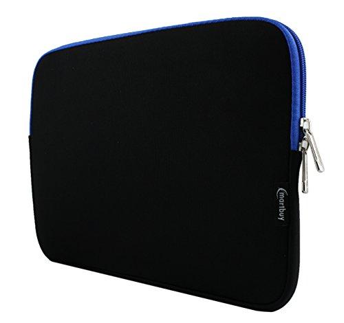 emartbuy Midnight Schwarz/Blau Wasserdicht Neopren Soft Zip Case Cover Hülle Mit Blau Innenraum Und Reißverschluss 10-11 Zoll Kompatibel Mit Ausgewählte Geräte Unten Aufgeführt