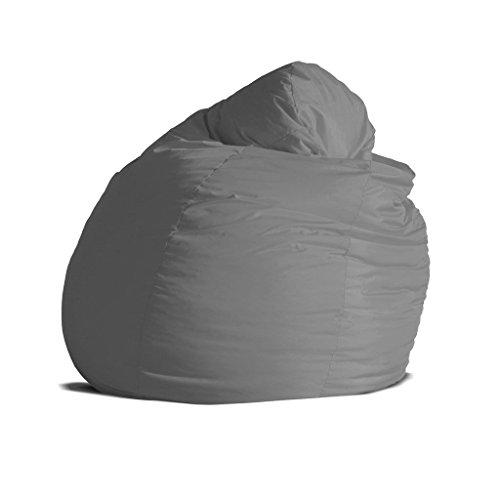 Pouf-poltrona-sacco-grande-BAG-XXL-Jive-tessuto-tecnico-antistrappo-grigio-imbottito-Avalon