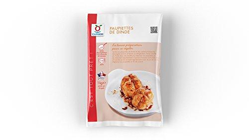 TOUPARGEL - 7 à 9 paupiettes de dinde - 1 kg - Surgelé