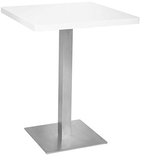SixBros. Bartisch Bistrotisch Tisch Weiß 60x60x75 - M-BT60/1855