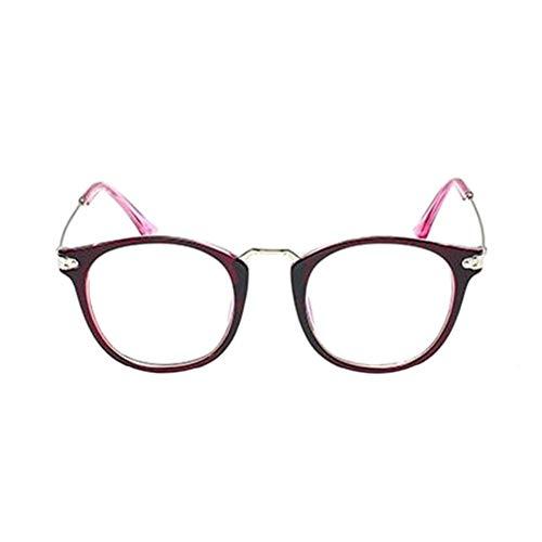 HPTAX-VB Spiegeln Frauen Eyewear Cat Eye Metallrahmen Eyewear Retro Vintage Optische Gläser Klare Linse Brillen