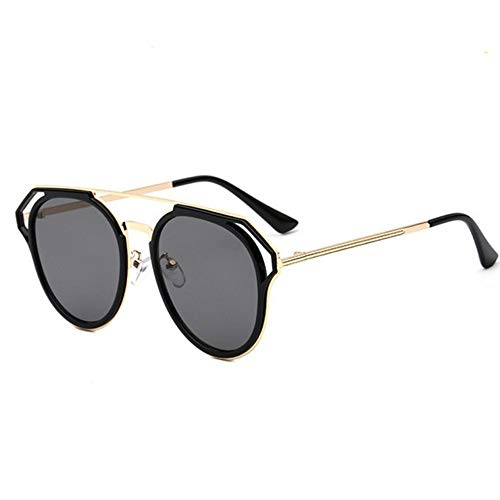 WDSLHH Women Men Round Sunglasses Spectacles Male Female Metal Frame Hd Lens Sun Glasses Rainbow Color Shade