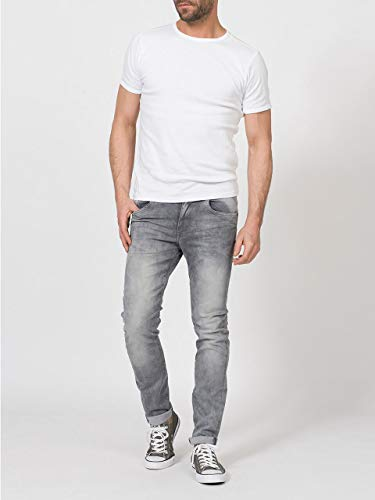 Petrol Industries Herren Seaham Noos Slim Jeans, Grau (Dusty Silver 9703), W33/L34 (Herstellergröße: 33/34)
