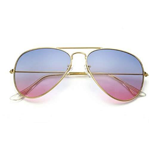 WDDYYBF Sonnenbrillen, Mode Aviator Sonnenbrille Frauen Klare Linse Weiblich Männlich Phototrope Gläser Sonnenbrillen Goggles Bluepink Fahren