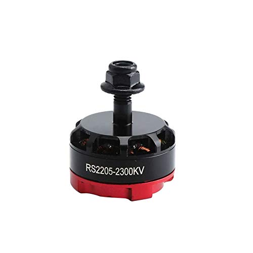 KEKDORY RS2205 2300KV 2205 CCW Brushless Motor 3-4S für FPV RC Racing Drone Multicopter Doppel Lock CW / CCW Gegenmuttern - Rot