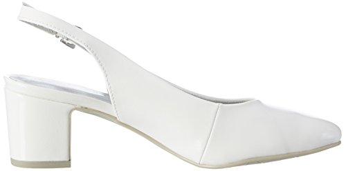 Marco Tozzi 29600, Sandales Bout Ouvert Femme Blanc (White 100)