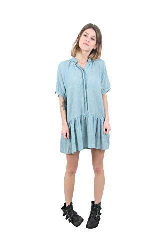 Sunshine - Robe à manches courtes - Femme Bleu fumée