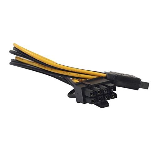 LouiseEvel215 Cable adaptador de alimentación SATA Profesional de 8 clavijas (6 + 2) a 15 clavijas Cable adaptador de alimentación de Video SATA PCI-E para discos duros de tarjetas gráficas