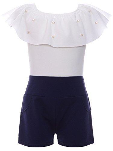 BEZLIT BEZLIT Jumpsuit Mädchen Overall Onesie Schulterfrei Einteiler 22688 Navy Größe 104