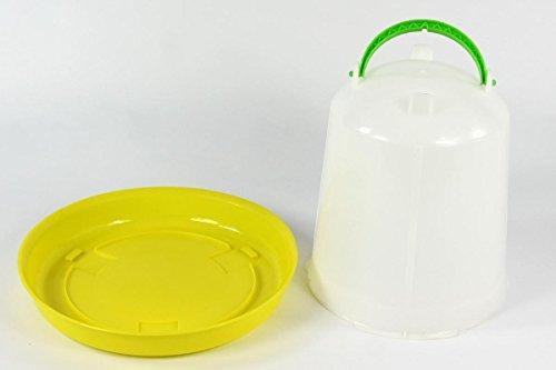Geflügeltränke 7,5 Liter und Futterautomat 3kg Tränke Futterspender Stülptränke Huhn Hühner Geflügel Wachteln -