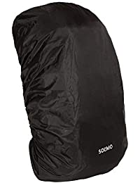 Amazon Brand - Solimo Rain & Dust Cover for Backpack (Black)