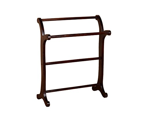 Madera Towel Stand (Walnut Finish, Brown)