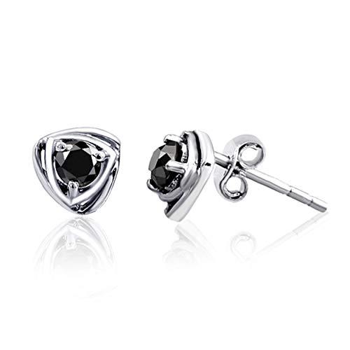 Orchid Jewelry Damen Kinder Herren Unisex - 925 Sterlingsilber Sterling-Silber 925 Rund Black Diamant