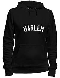 T-Shirtshock Sudadera con Capucha para Las Mujeras Negro FUN4264 Harlem