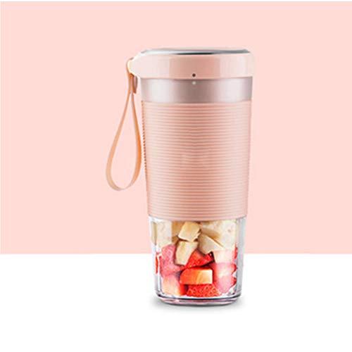 KOKO Juice Cup Tragbare Haushaltsentsafter Multifunktionale kleine Fruchtmixer Milkshake Hersteller leicht zu reinigen, 50W ohne BPA-Pink