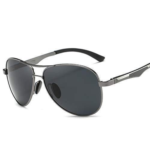 LKVNHP 148Mm Herren Polarized Sonnenbrille Übergroße Aviation Sonnenbrille Für Mann Fahren Uv400 Blendschutzbrille Qualität FallGrau Und Grau