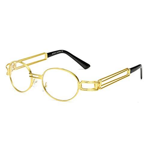 WZYMNTYJ Männer Platz Fahren Sonnenbrille Gothic Steampunk Sonnenbrille Hohe Qualität Eyewears Mit Metall Wrap Brillen UV400