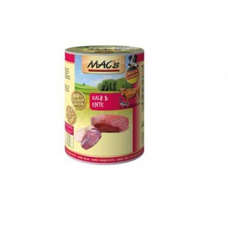 hundeinfo24.de MACs | Kalb & Ente | 6 x 400 g