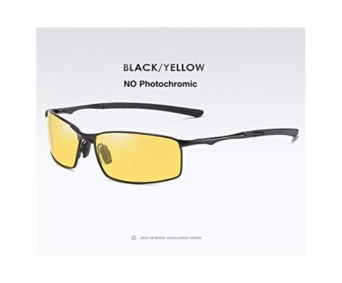 Polarisierte Photochrome Sonnenbrille Mens Transition Lens Driving Brille Männlicher Fahrer Safty Brille Oculos Gafas De Sol (Frame Color : Package A, Lenses Color : Black Yellow)