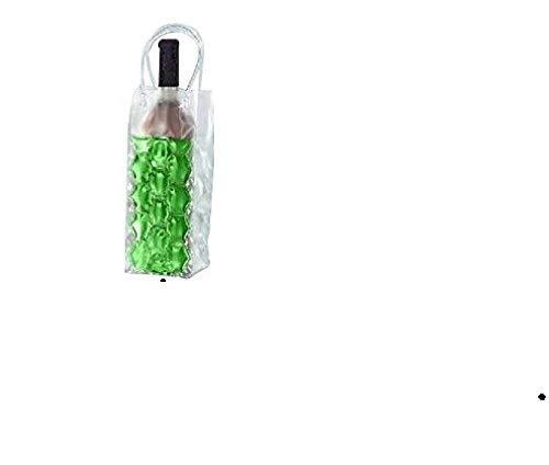 joka international GmbH 2 Flaschenkühler Tasche mit Eisgel zum einfrieren Sektkühler Weinkühler grün