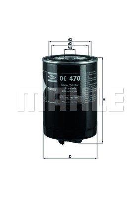 Preisvergleich Produktbild Mahle Knecht OC 470 Öllfilter