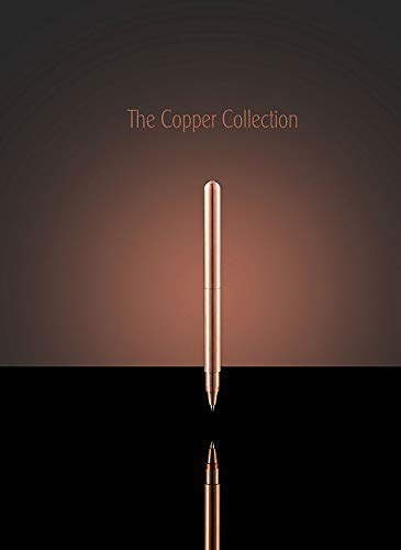 Pure Copper Pen Hand Made in England, with a Sepia ink - Perfect Wedding, Birthday, Graduation, Retirement Gift, Office, Corporate, Business Gift Idea for Women and Men.
