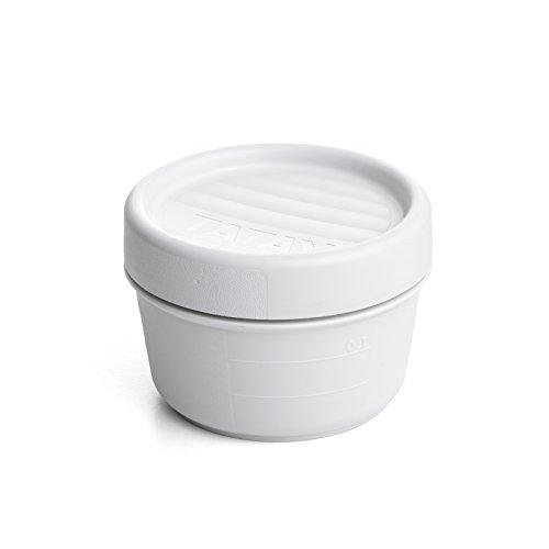 Tatay Twist Opak 1167811 Contenedor de alimentos hermético, 0,2 litros, Blanco, 8.5 x 8.5 x 6 cm