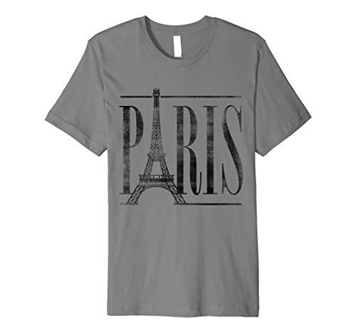 Paris France Eiffel Tower Travel Vintage Graphic T-Shirt -
