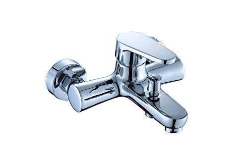 DP Grifería Alamo – Grifo monomando de baño/bañera , color plata