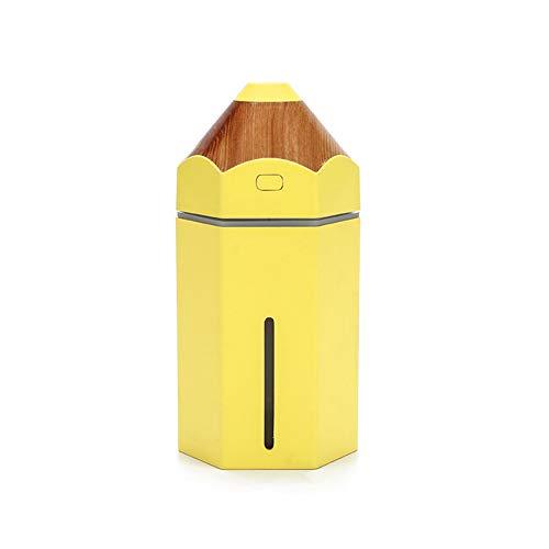 Beito 1PC Lápiz humidificador Amarillo 230 ml de Ministerio del Interior Mini USB de Vapor frío LED difusor del purificador