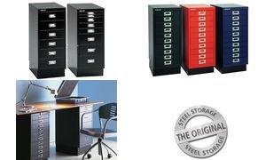 Preisvergleich Produktbild BISLEY Schubladenschrank MultiDrawer A4, 10 Schübe, grau